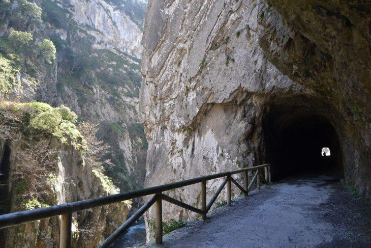 Túnel y río Teverga
