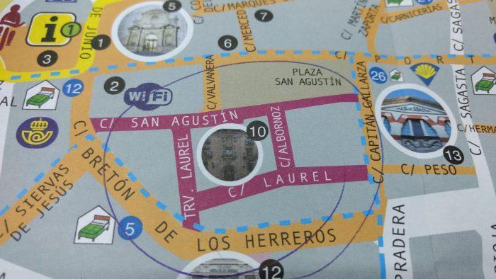 Plano de la Zona del Laurel de Logroño