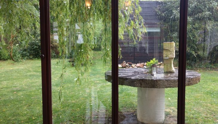 Vistas al jardín de Le Moulin d´Alotz