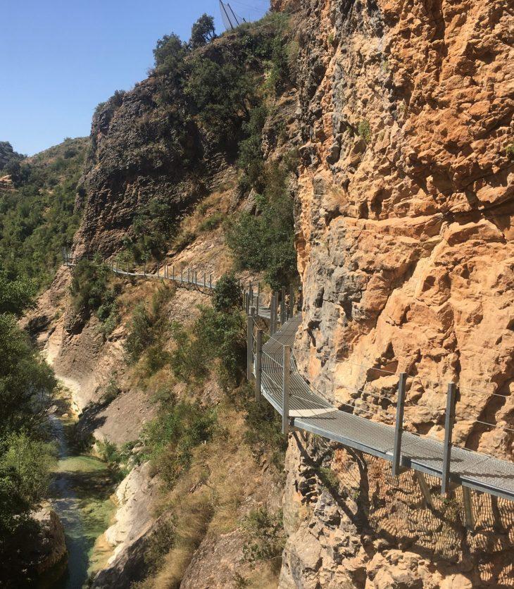 Ruta de las pasarelas de Alquézar