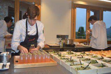 Cocina a la vista en Restaurante Eneko