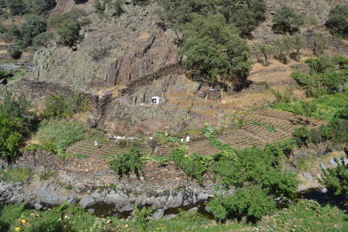 Bancales junto al rio