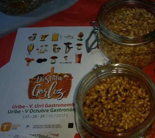 Cebadas malteadas en la Feria de la cerveza de Gorliz