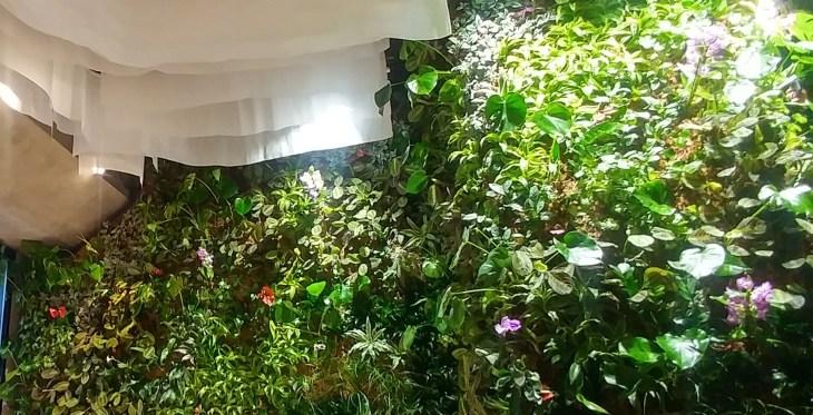 Jardin vertical del Restaurante Origen Bilbao