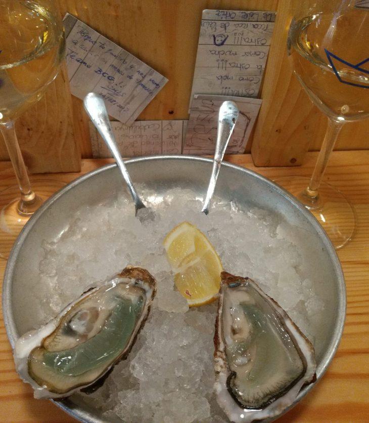 Unas ostras en El Puertito de Ledesma