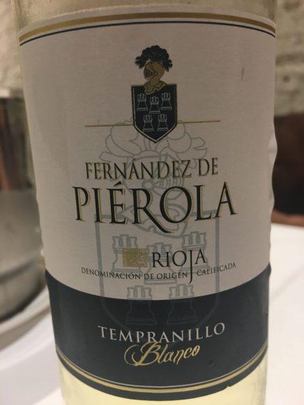 Vino blanco Fernández de Piérola