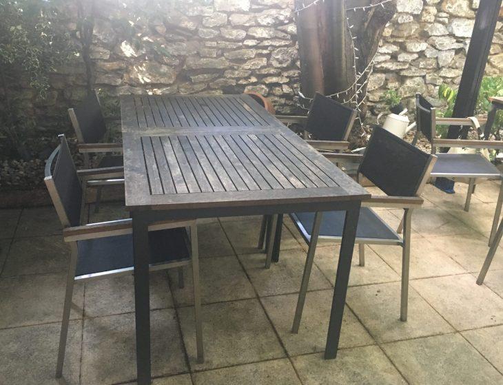 Terraza del Restaurante La Regadera de Vitoria-Gasteiz