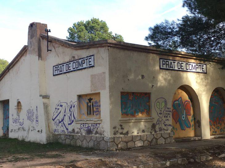 Antigua estación de Prat de Compte