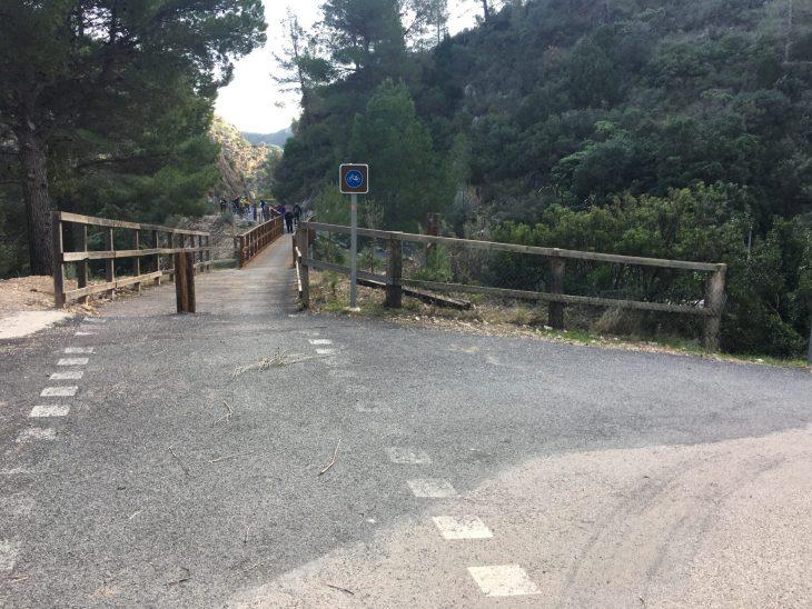 Desvío hacia el Balneario de la Fontcalda