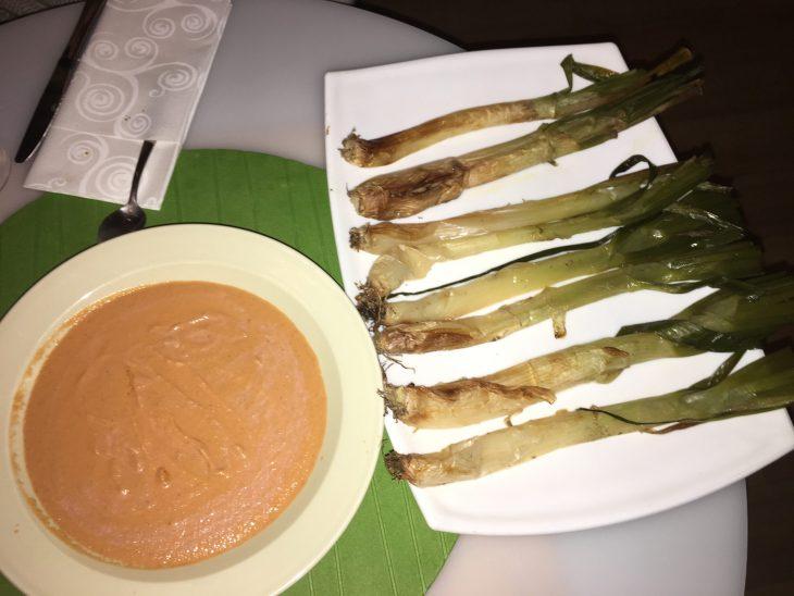 Calçot de Durango con su salsa romescu