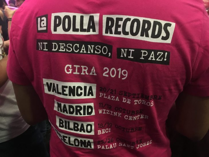 Gira Ni descanso ni paz de La Polla Records