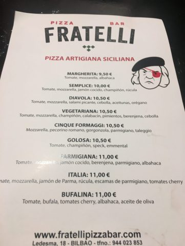 Fratelli Pizza Bar