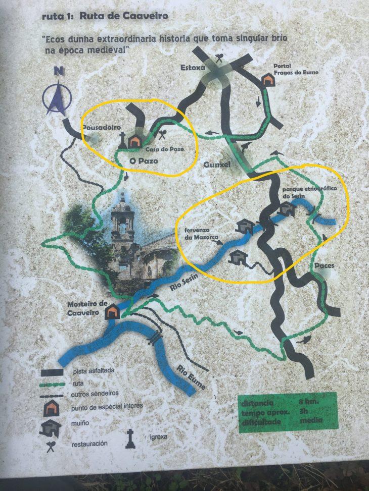 Ruta de los Molinos del Sesín y O Pazo de A Capela