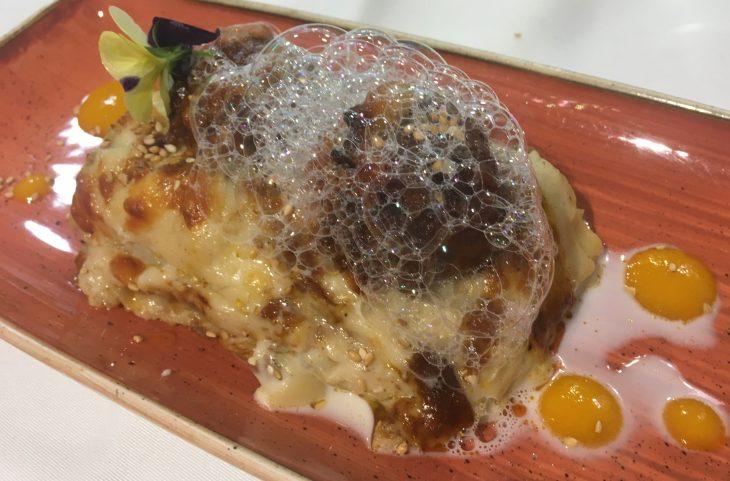 Mini lasagna de carne y coco