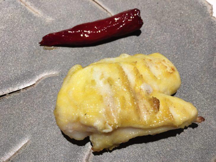 Kokotxa de bacalao y Pimiento choricero
