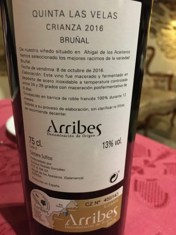 Vino Bruñal DO Arribes