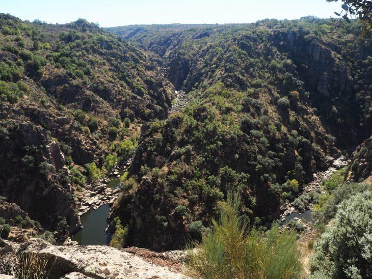 Ruta de las Arribes del río Huebra en Saldeana