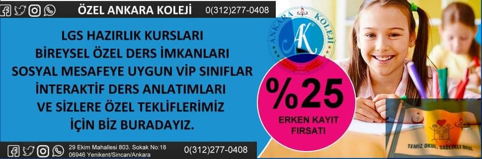 Ankara Koleji reklam