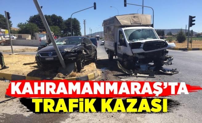 Kahramanmaraş'ın Pazarcık ilçesinde trafik kazası; 1 Yaralı
