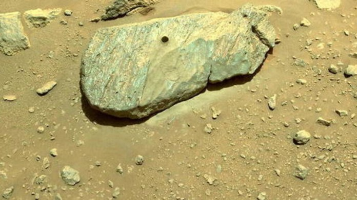 Perseverance Mars'ta bir kayalıktan eşantiyon aldı