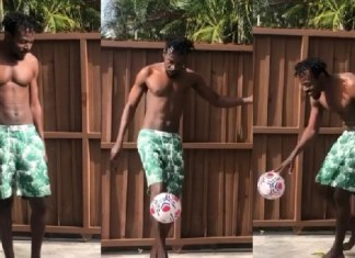 Kwaw Kese shows off his football skills, hits 75 juggles in 30 seconds