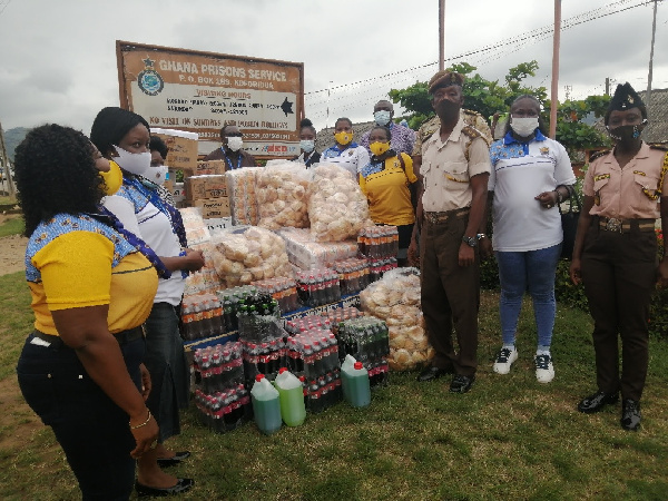 ECG Power Queens supports Koforidua Prisons to fight coronavirus
