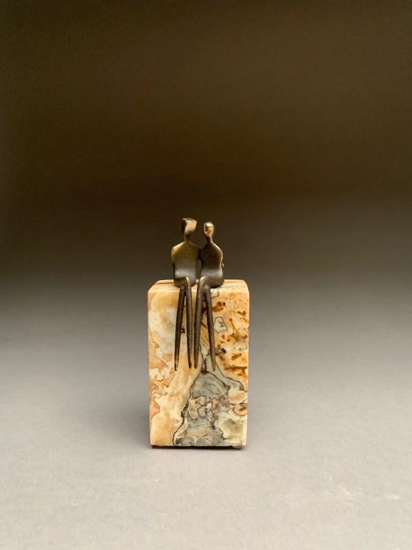Miniature anniversary bronze sculpture