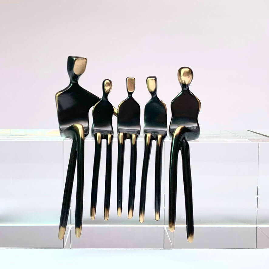 Bronze Sculpture family of five