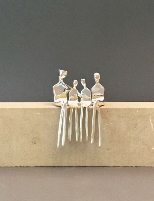 Family of four Caress silver front no base