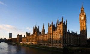 Parliament as seen from Westminster Bridge.