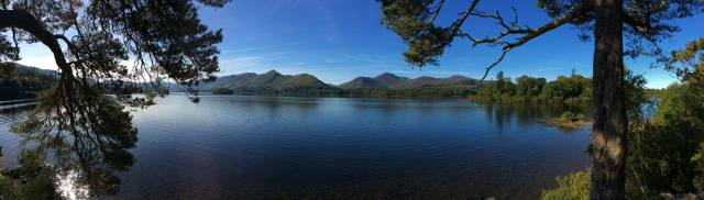 Derwent Water from Friars Crag, Keswick with the famous Catbells summit in the distance.