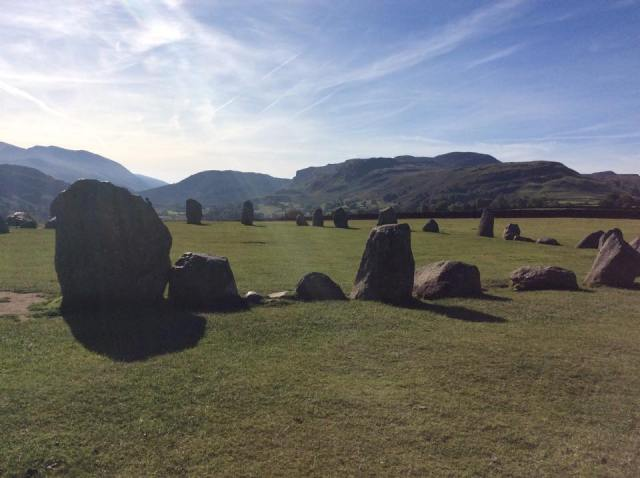 Castlerigg Stone Circle - 2 stone circles surrounded by stunning mountain scenery