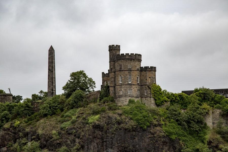 High above the city, Edinburgh Castle