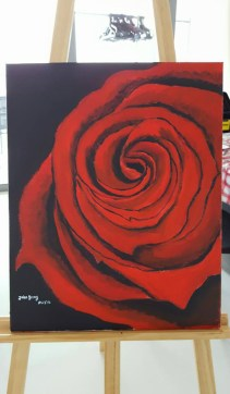 red rose painting