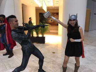 About to meet my match in Skinny-Thor! Ashley :D