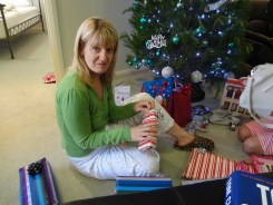 Gail opens her presents