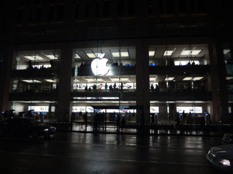 The massive Apple shop in Sydney.
