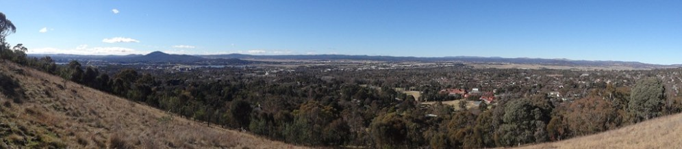 Panorama from the top of Red Hill.