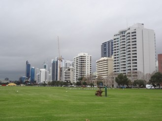 View of downtown Perth from Riverside Drive.
