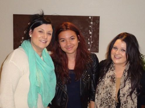 Sam, Ciara and Nicola