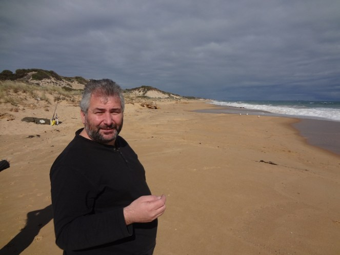 Ray on the beach