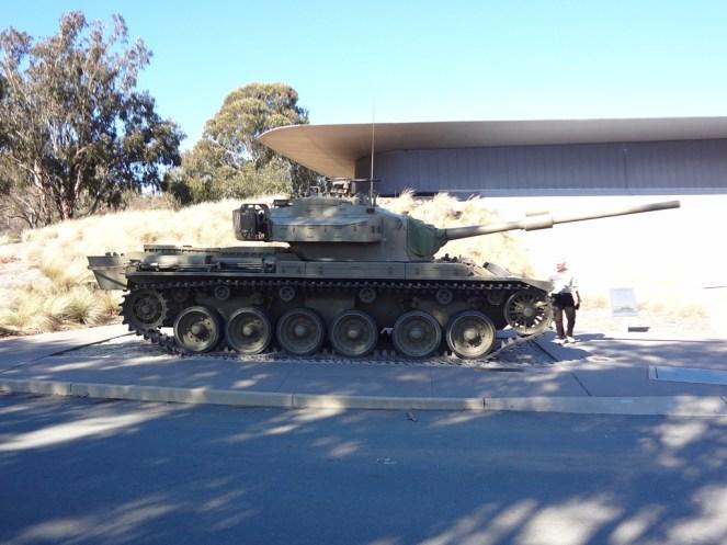 Chieftain tank outside the Australian War Memorial