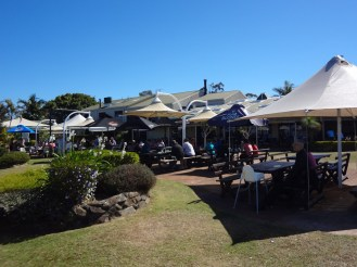 The beer garden at Eagle Heights Resort
