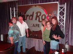 At the Hard Rock Cafe, Darling Harbour