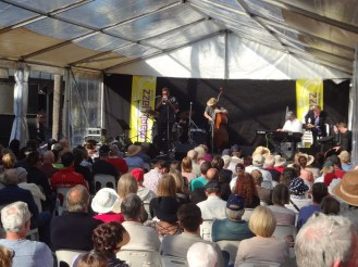 Jazz music tent at Manly Beach