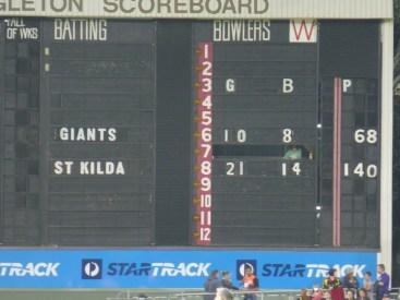 Oh dear! the final score