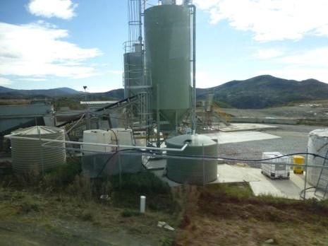 The concrete plant.