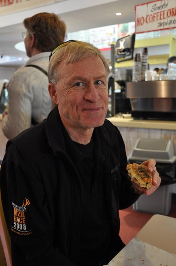 Glenn waiting for his pie.