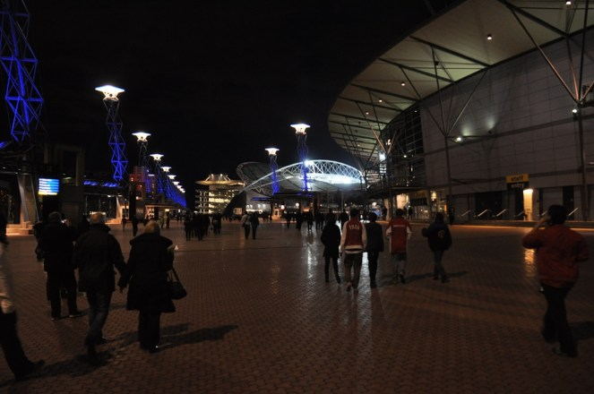 The approach to the ANZ Stadium