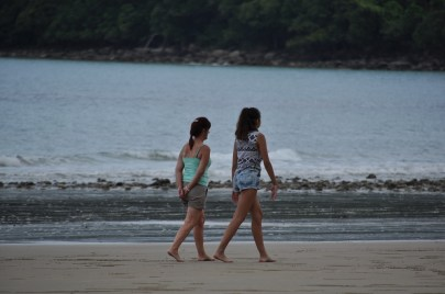 Walking along the beach at Cape Tribulation